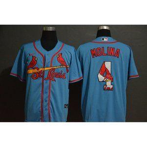 St. Louis Cardinals Yadier Molina Blue Jersey